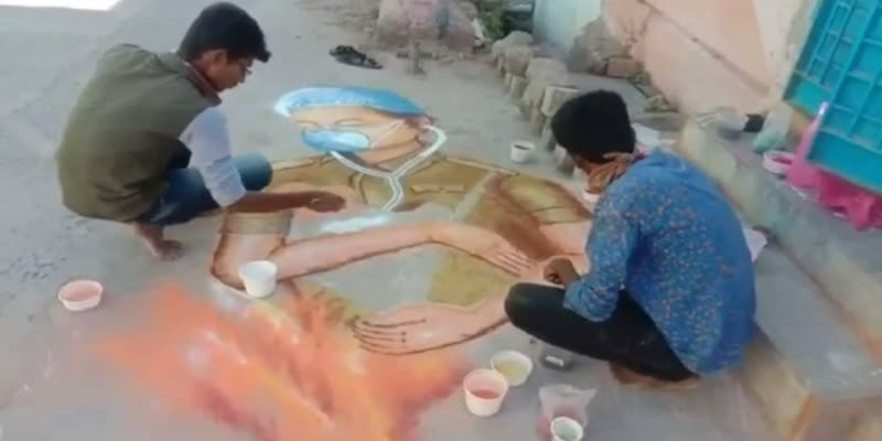Students-honoring-government-essential-workers-by-painting-