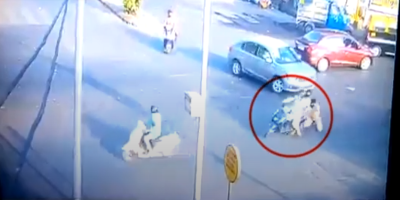 Biker-drags-Mumbai-cop-for-trying-to-stop-him-during-lockdown