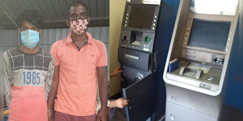 Salem-Indian-bank-ATM-Robbery-attempt---Two-person-arrested