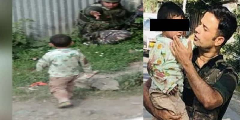 Kashmir--Heartbreaking-images-show-3-year-old-crying-over-body-of-grandfather-killed-in-cross-firing