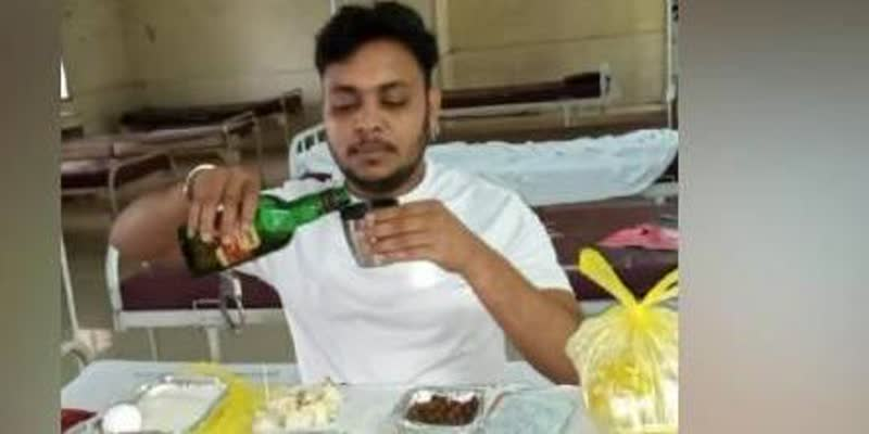 Jharkhand-CM-Soren-directs-action-after-photographs-of-criminal-celebrating-with-liquor-inside-COVID19-ward-goes-viral