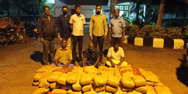 210-kg-of-cannabis-smuggled-in-a-lorry-in-Namakkal--Police-seized