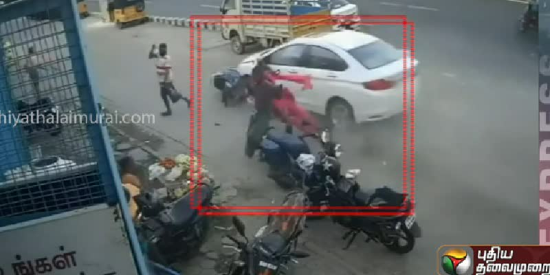 car-bike-accident-cctv-video-released-in-chennai